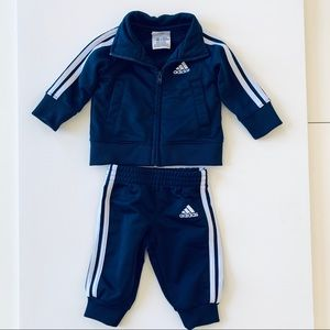 Adidas baby track suit blue size 3mos